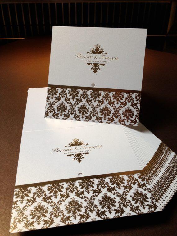 Letterpress dorure