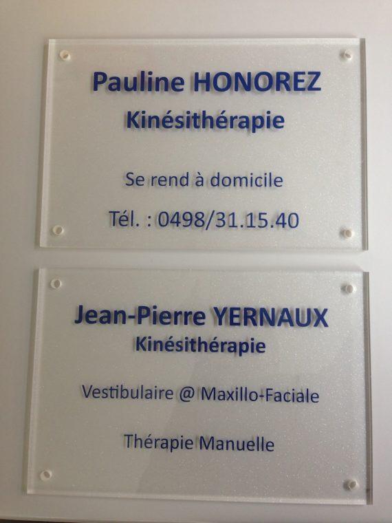 Lettrage plaque